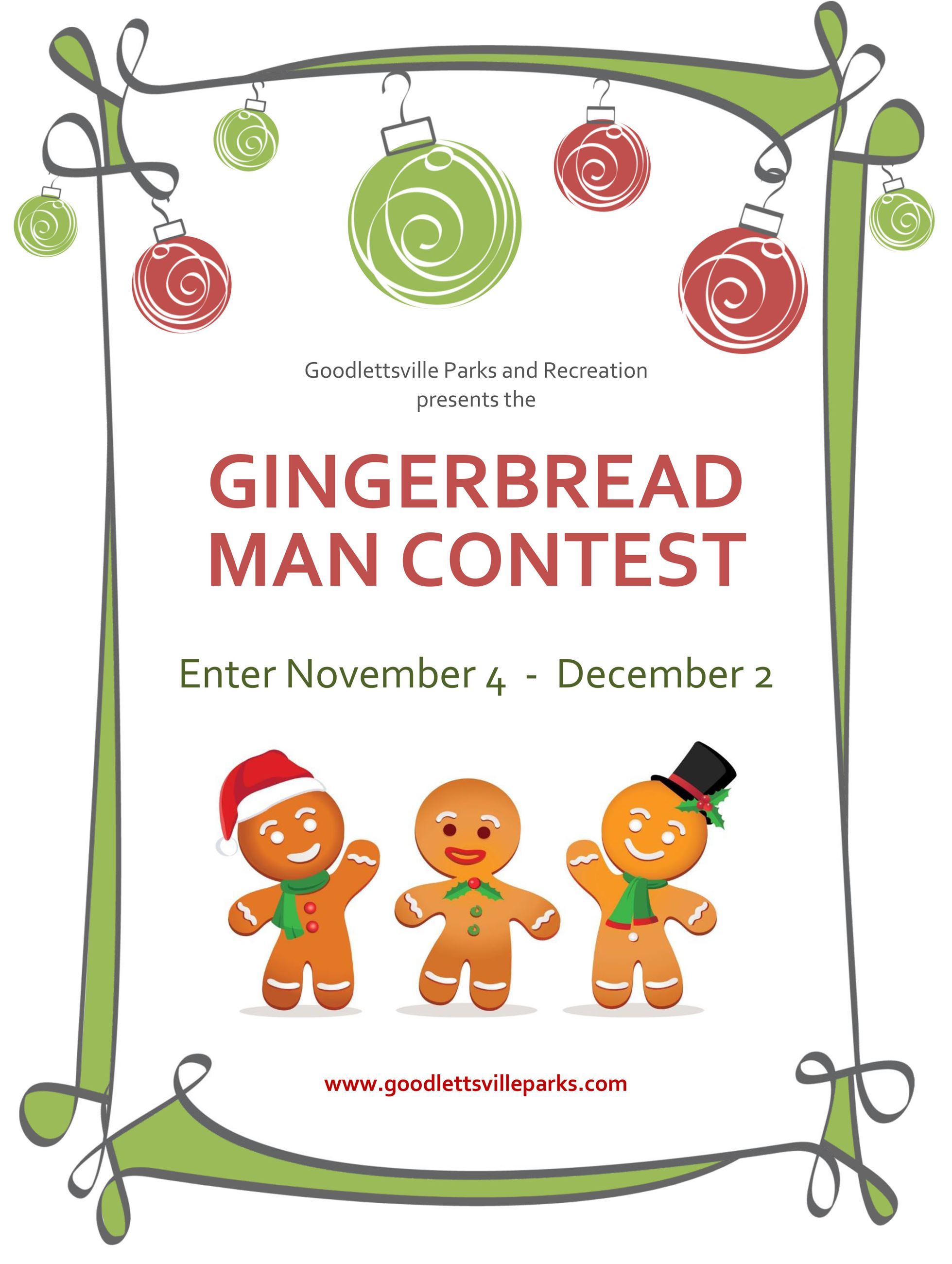 2019 Gingerbread Contest Announcement
