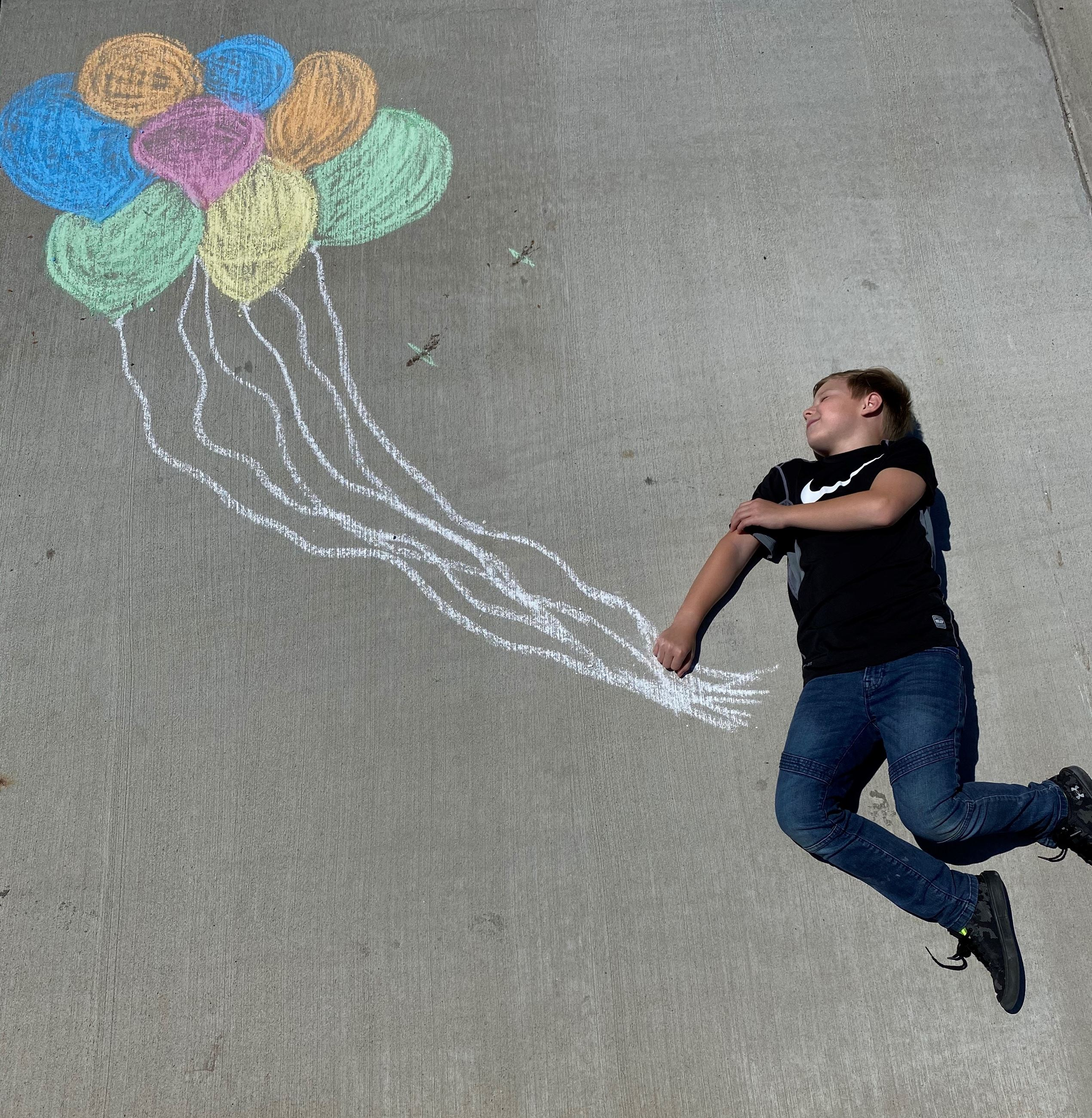 chalk balloon