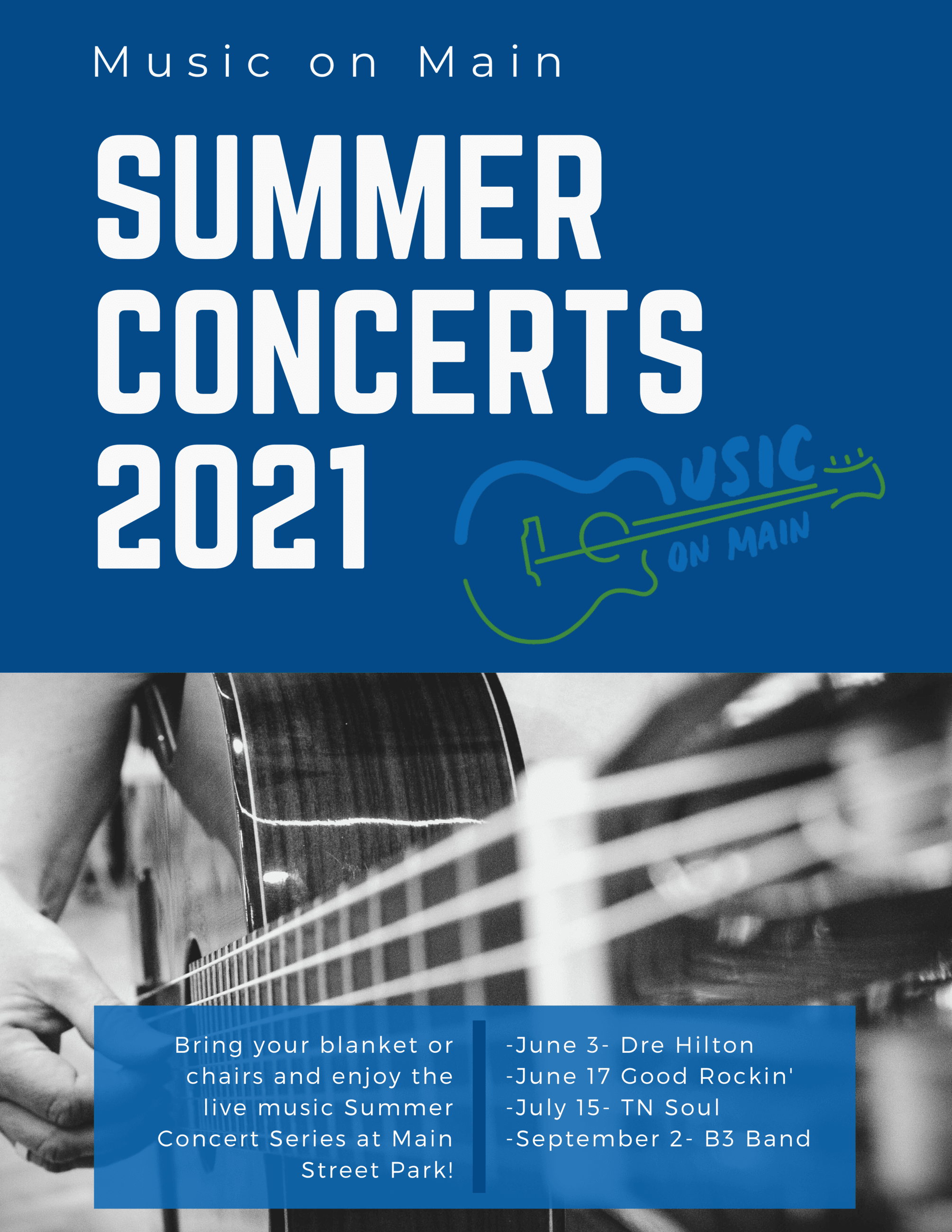 Music on Main Poster with Bands21